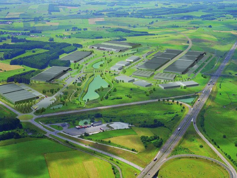 Vue aérienne - position stratégique en Luxembourg belge