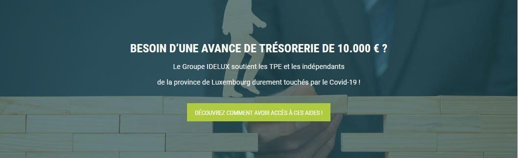IDELUX relance son avance de trésorerie de 10 000 € pour les TPE et indépedants