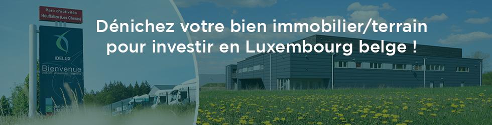 Bien immobilier - terrain pour investir en Luxembourg belge